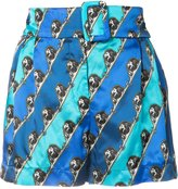 Mary Katrantzou lion print shorts - women - Viscose/Silk - 8