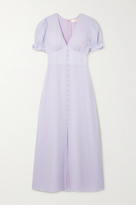 TVF Lavender Crepe De Chine Maxi Dress - Lilac