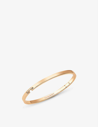 Chaumet Liens Évidence 18ct rose-gold and 0.05ct diamond bracelet