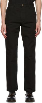 Carhartt Work In Progress Black Single Knee Trousers