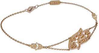 Djula Yellow Gold and Diamond Fatima Hand Bracelet