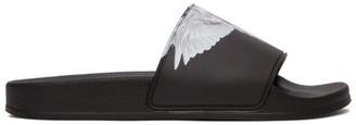 Marcelo Burlon County of Milan Black and White Wings Slides