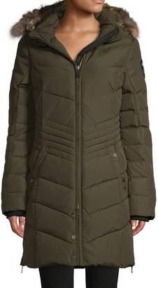 Pajar Quilted Down-Blend & Fox Fur-Trim Coat