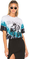 Baja East Two Horses Graphic T-Shirt in Blue. - size 0 (also in 00,1,2)