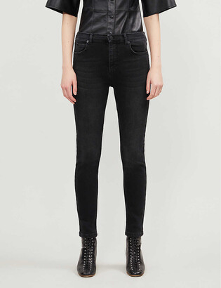 Whistles Sculpted high-rise stretch-denim jeans
