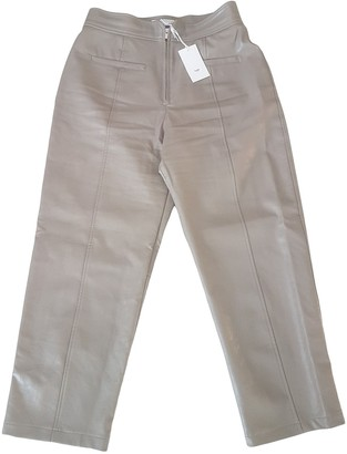The Frankie Shop Beige Synthetic Trousers