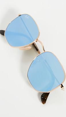 Ray-Ban RB3548N Hexagonal Mirrored Sunglasses