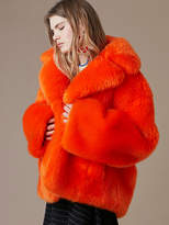 Diane von Furstenberg Faux Fur Collared Jacket