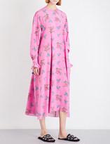 Natasha Zinko Floral-print loose-fit silk-crepe dress