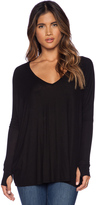 Michael Lauren Hyde Long Sleeve Draped Tee