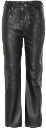 Saint Laurent High-rise leather straight pants