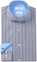 Isaac Mizrahi Slim Fit Plaid Dress Shirt