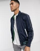 Calvin Klein reversible satin bomber jacket-Blue