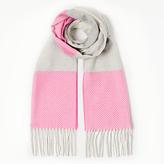 John Lewis Classic Contrast Cashmink Scarf, Bright Pink/Grey