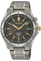 Seiko Men's Kinetic Date Bracelet Strap Watch