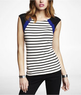 Express Striped Scoop Back Tee