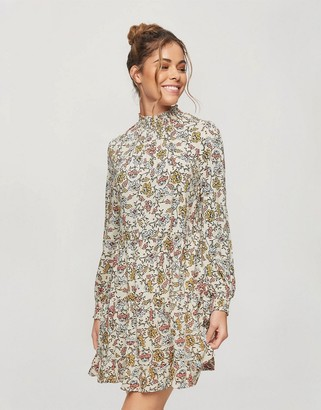 Miss Selfridge shirred smock dress in ditsy floral