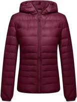 ZSHOW Women's Outwear Hooded Down Coat Light Packable Powder Pillow Down Jackets(,US XS/Asian M)