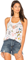 Chaser Tattoo Tank in White. - size L (also in M,S)