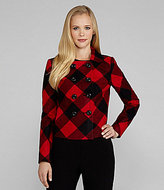Plaid Double-Breasted Jacket