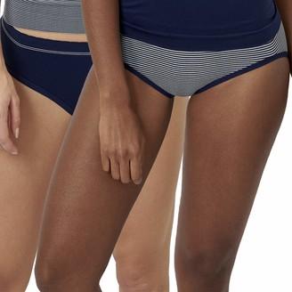 Billet Doux Women's Zen Attitude Pants Blue Bleu Cosmique/Blanc Hay) 6 (size: 34/36) (Pack of 2