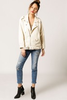 Moon River Biker Linen Jacket
