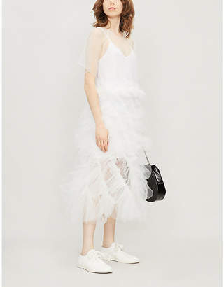 Roberts Wood Vortex sheer tulle midi dress