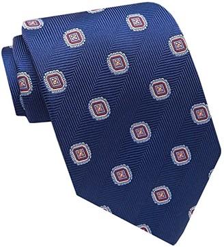 David Donahue Medallion Necktie (Navy) Ties