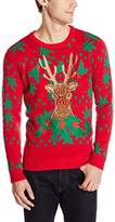 Blizzard Bay Men's Relaxed Rudolph Ugly Christmas Sweater