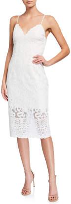 Bardot Gia Lace V-Neck Bodycon Cocktail Dress