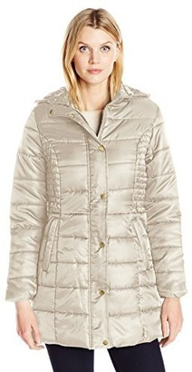 Big Chill Women's Matte Sateen Long Quilted Puffer