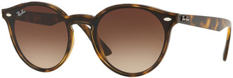 Ray-Ban Round Lens-Over-Frame Plastic Sunglasses