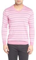 Bugatchi Men's Stripe Silk Blend Sweater