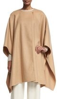 The Row Marcella 3/4-Sleeve Wrap Cape, Toast