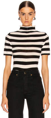 KHAITE Nidia Sweater in Black & Cream Stripe | FWRD