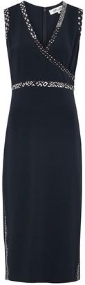 Diane von Furstenberg Anissa navy midi dress