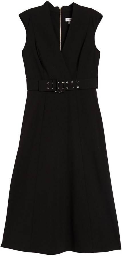 Calvin Klein Surplice Belted Midi Dress