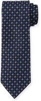 BOSS Neat Diamond-Box Printed Silk Tie, Navy