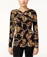 Thalia Sodi Chain-Print Top, Only at Macy's