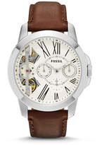 Fossil Grant Twist Multifunction Brown Leather Watch