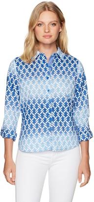 Caribbean Joe Women's Knot Print Shirt