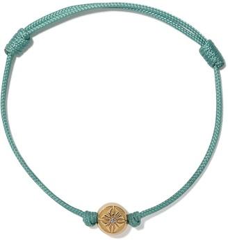 Shamballa Jewels 18kt yellow gold and diamond Star of bead cord bracelet