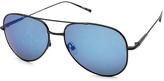 Calvin Klein Black Polarized Aviator Sunglasses - Women