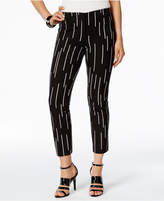 Alfani Petite Printed Skinny Capri Pants, Created for Macy's