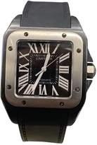 Cartier Santos 100 XL Black Steel Watches