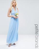 TFNC Petite WEDDING Halterneck Chiffon Maxi Dress