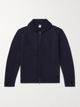 Massimo Alba Ian Shawl-Collar Wool Zip-Up Cardigan