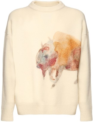 Jil Sander Printed Wool Knit Sweater