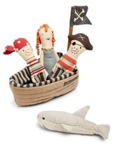 Maileg Five-Piece Plush Rattle Pirate Ship Set