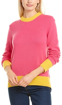 Tory Burch Colorblocked Cashmere Sweater